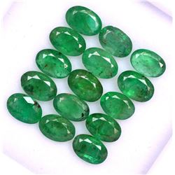 Natural Emerald 6x4 MM Oval Cut Green Loose Untreated Gemstone 50 Pieces Lot