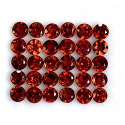 Red Garnet Round Cut 4x4mm Loose Gemstone 100 Pieces Lot