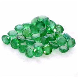 Natural Emerald 3 MM Round Cut Green Loose Gemstone 500 Pieces Lot