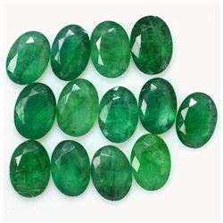 Natural Emerald 7x5 MM Oval Cut Green Loose Untreated Gemstone 25 Pieces Lot