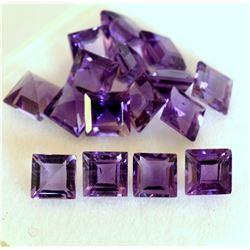 Amethyst Square Cut 5x5mm Loose Gemstone 100 Pieces Lot
