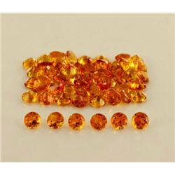 NATURAL GOLDEN CITRINE 6 MM ROUND CUT FACETED LOOSE GEMSTONE 50 PIECES LOT