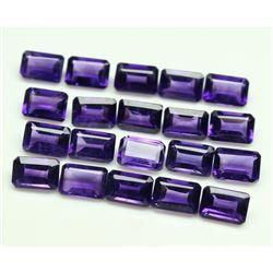 Amethyst Octagon Cut 8x6mm Loose Gemstone 100 Pieces Lot