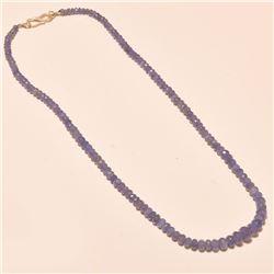 Tanzanite Gemstone Round Cut Beads Necklace