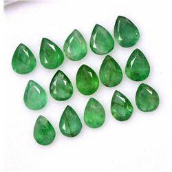 Natural Emerald 3x4 MM Pear Cut Green Loose Gemstone 100 Pieces Lot
