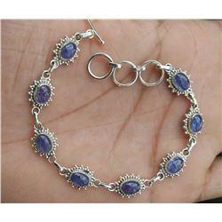 Natural Tanzanite 92.5 Sterling Silver Bracelet