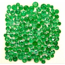 WHOLESALE LOT NATURAL EMERALD 3 MM TO 6.50 MM ROUND CUT FACETED LOOSE GEMSTONE