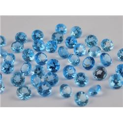 Natural Blue Topaz 6 mm Round Cut Loose Gemstone 25 Pieces Lot