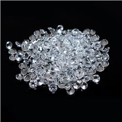 Natural White Topaz Round Cut 5 mm Loose Gemstone 100 Pieces Lot