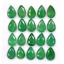 Natural Emerald 6x4 MM Pear Cut Green Loose Gemstone 50 Pieces Lot