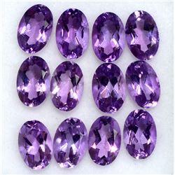 Amethyst Oval Cut 6x4mm Loose Gemstone 100 Pieces Lot