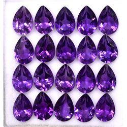 Amethyst Pear Cut 7x5mm Loose Gemstone 100 Pieces Lot
