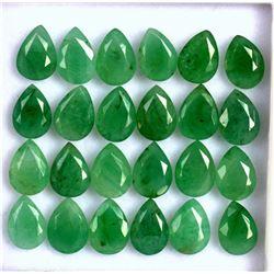 Natural Emerald 7x5 MM Pear Cut Green Loose Gemstone 20 Pieces Lot