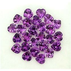 NATURAL PURPLE AMETHYST 4X4 MM HEART CUT FACETED LOOSE GEMSTONE 100 PIECES LOT