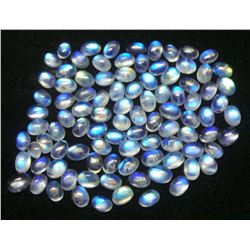 BLUE FIRE RAINBOW MOONSTONE 7X5 MM OVAL CABOCHON LOOSE GEMSTONE 100 PIECES LOT