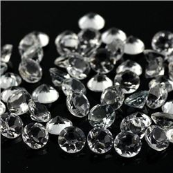 Natural White Topaz Round Cut 6 mm Loose Gemstone 100 Pieces Lot