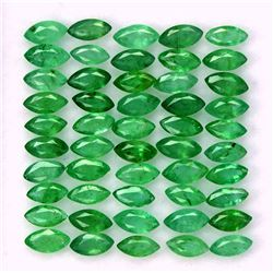 Natural Emerald 2x4 MM Marquise Cut Green Loose Gemstone 100 Pieces Lot