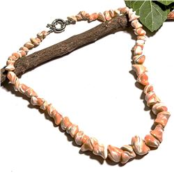 NATURAL SEA SHELL GEMSTONE NECKLACE