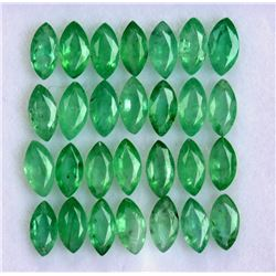 Natural Emerald 2.5x5 MM Marquise Cut Green Loose Gemstone 100 Pieces Lot