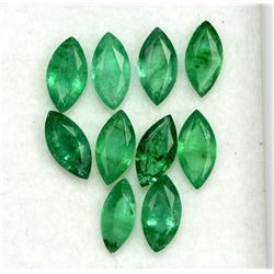 Natural Emerald 6x3 MM Marquise Cut Green Loose Gemstone 100 Pieces Lot