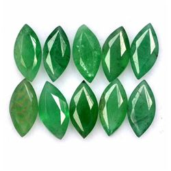 Natural Emerald 3.5x7 MM Marquise Cut Green Loose Gemstone 100 Pieces Lot