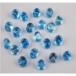 Natural Blue Topaz 6 mm Round Cut Loose Gemstone 50 Pieces Lot