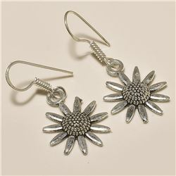 VINTAGE SILVER PLATED ANTIQUE DESIGNER HANDMADE EARRING JEWELRY