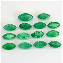 Natural Emerald 4x8 MM Marquise Cut Green Loose Gemstone 25 Pieces Lot