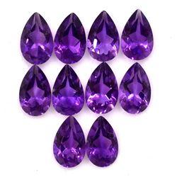 Amethyst Pear Cut 8x6mm Loose Gemstone 100 Pieces Lot