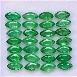 Natural Emerald 2.5x5 MM Marquise Cut Green Loose Gemstone 200 Pieces Lot