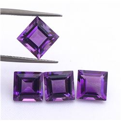 Amethyst Square Cut 7x7mm Loose Gemstone 50 Pieces Lot
