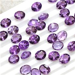 Amethyst Oval Cut 9x11mm Loose Gemstone 15 Pieces Lot