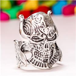 FASHION GOTHIC PUNK SKULL DESIGN SILVER PLATED RING SIZE 10