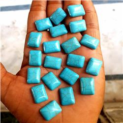 Natural Turquoise 12x16 MM Octagon Loose Cabochon Gemstone 50 Pieces Lot