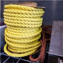 SPOOL AND COIL OF HEAVY DUTY ROPE