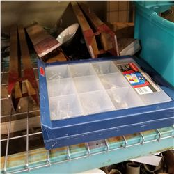 HARDWARE ORGANIZER AND TRAY OF TOOLS