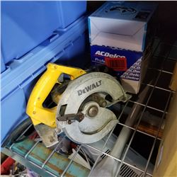 DEWALT CIRCULAR SAW, SMALL AIR COMPRESSOR, AND ALTERNATOR