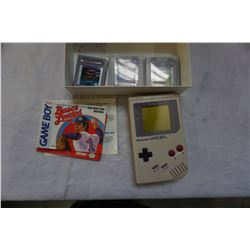 NINTENDO GAME BOY AND THREE GAMES