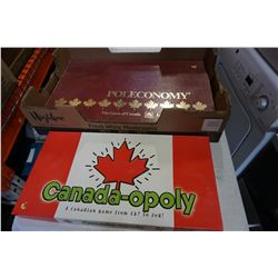 POLECONOMY AND CANADAPOLY GAMES