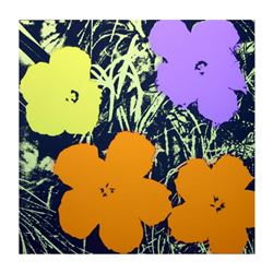 "Andy Warhol ""Flowers 11.67"" Silk Screen Print from Sunday B Morning."