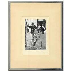 "George Marlowe, ""Cyclist"" Framed Hand Signed Fine Art Photography with Certificate of Authenticity"