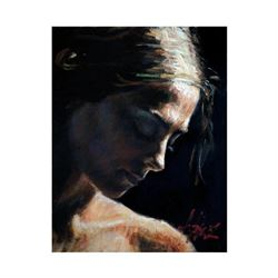 "Fabian Perez, ""Portrait Of Luciana"" Hand Textured Limited Edition Giclee on Board. Hand Signed and N"