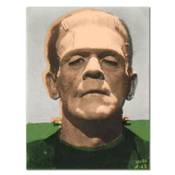 """Ringo, """"Frankenstein"""" One-of-a-Kind Hand-Pulled Silkscreen and Mixed Media Painting on Canvas, Hand"""