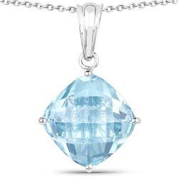 11.10 Carat Genuine Blue Topaz .925 Sterling Silver Pendant