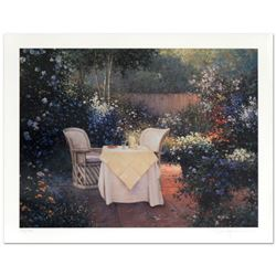 """Sergon, """"Garden Pleasures"""" Limited Edition Giclee, Numbered and Hand Signed by the Artist."""