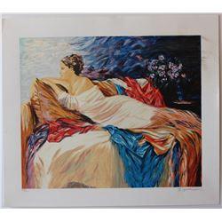 "Sergey Ignatenko- Original Serigraph on Paper ""Mary"""