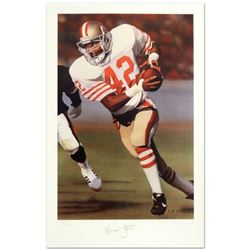 """Daniel M. Smith, """"Ronnie Lott"""" Limited Edition Lithograph Dated (1990), Numbered and Hand Signed by"""