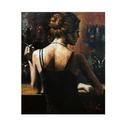 """Fabian Perez, """"Senorita W Red Hair"""" Hand Textured Limited Edition Giclee on Board. Hand Signed and N"""