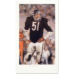 """Daniel M. Smith, """"Dick Butkus"""" Limited Edition Lithograph Dated (1990), Numbered and Hand Signed by"""