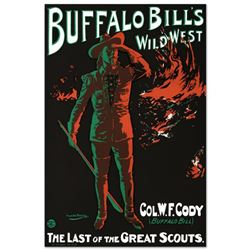 """""""Buffalo Bills Wild West"""" Hand Pulled Lithograph by the RE Society, Image Originally by Alick Penros"""